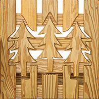 Wood Pine Trees