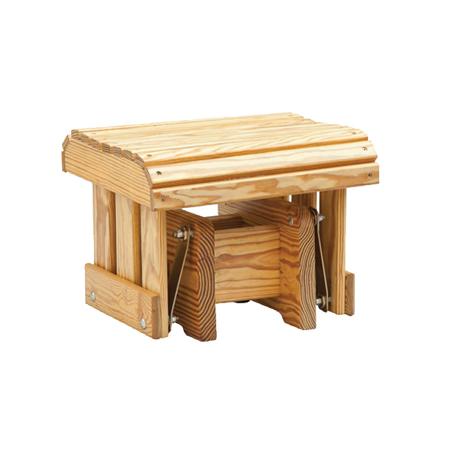 Gliding Ottoman Coopers Collection Outdoor Wood Furniture