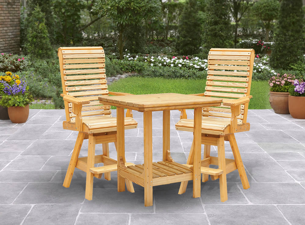 Outdoor Table Chair Set Cooper S Collection Outdoor Wood Furniture